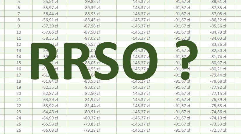 RRSO - Jak obliczyć w Excelu?