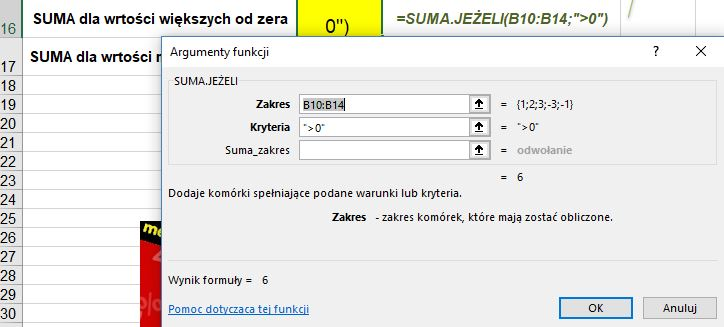 Funkcja SUMA.JEŻELI w Excelu - Screen 3