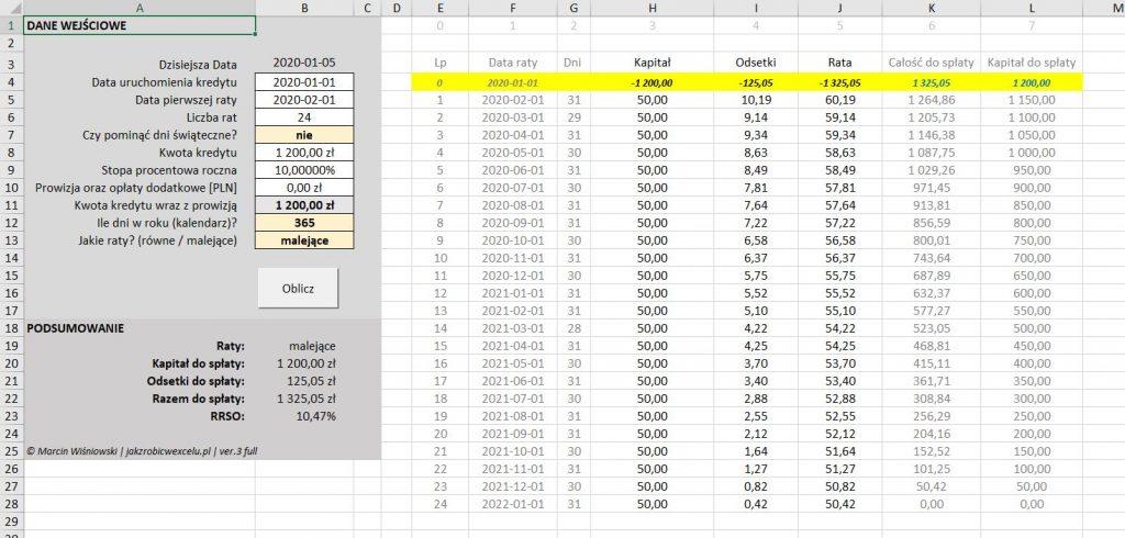 kalkulator kredytowy rrso excel wersja 3 vba