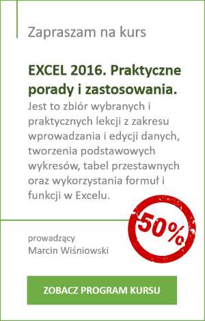 kurs Excel 2016 - promocja