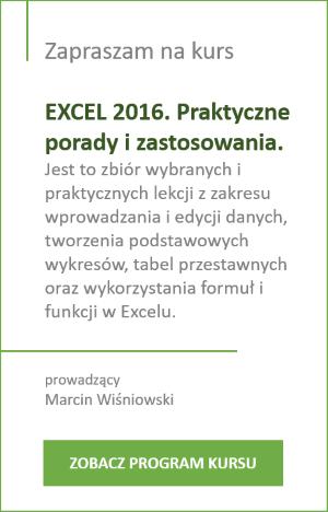 Kurs Excel 2016